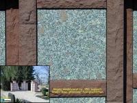 350 Magma sandsteinrot mit Rosa ghiandone fein geschliffen sonnig 350