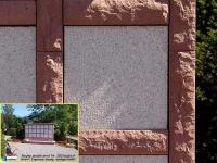 350 Magma sandsteinrot mit Juparana sandgestrahlt sonnig 350