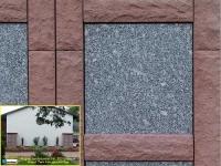 350 Magma sandsteinrot mit Tarn fein geschliffen 350